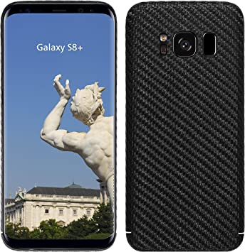 VIVERSIS Funda de Carbono Real para Samsung Galaxy S8+, Negro Mate ...