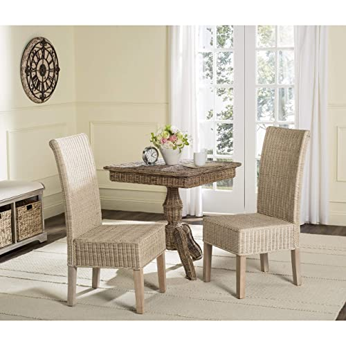 Safavieh Home Collection Arjun Grey Wicker 18-inch Dining Chair