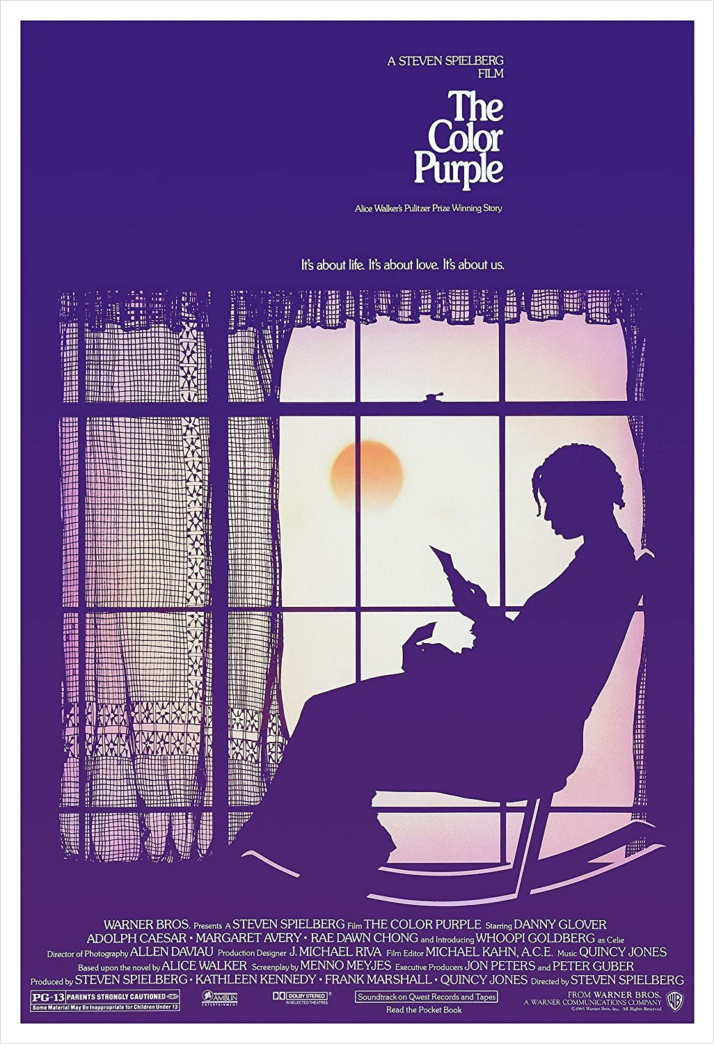 """The Color Purple"" movie poster, one of our favorite movies that explores female relationships!"