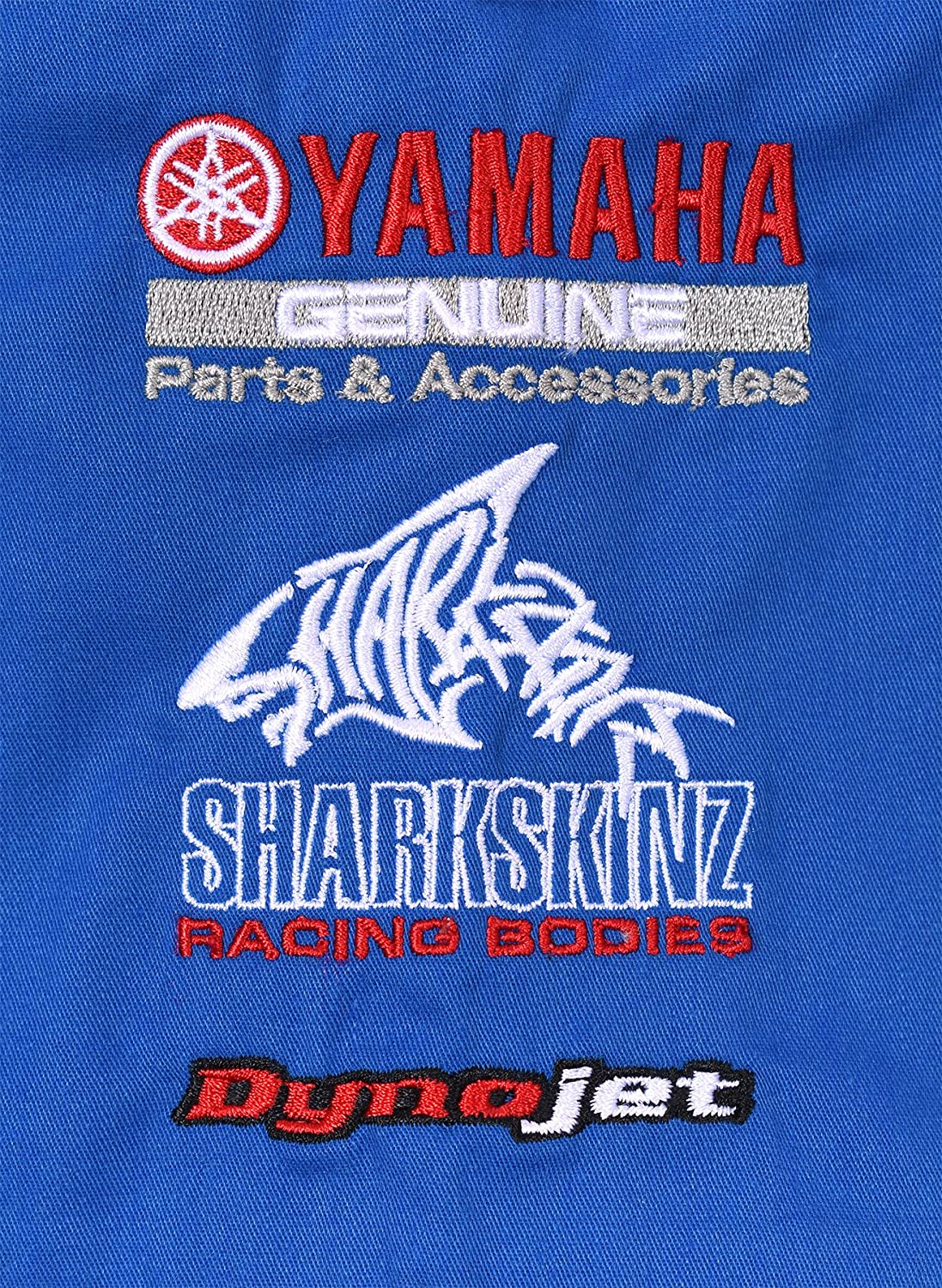 JH DESIGN GROUP Womens Yamaha Racing Embroidered Crew Shirts in Blue /& Red YAM607RAC0