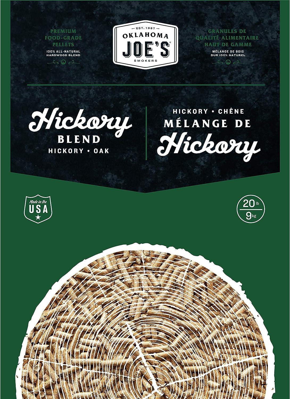 Oklahoma Joe's 2778406DP 100% All-Natural Hardwood Hickory Wood Pellets, (20 lb. Bag), Brown