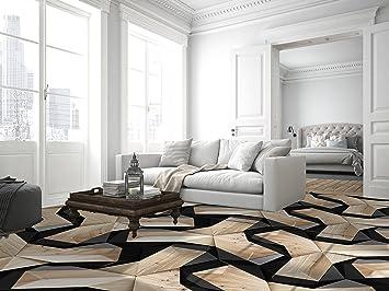 Ruvitex 3D Decor 3D Belag Dekor Boden Vinyl PVC Bodenbelag Wohnzimmer  Teppich Büro Aufkleber Fliesen Kunst