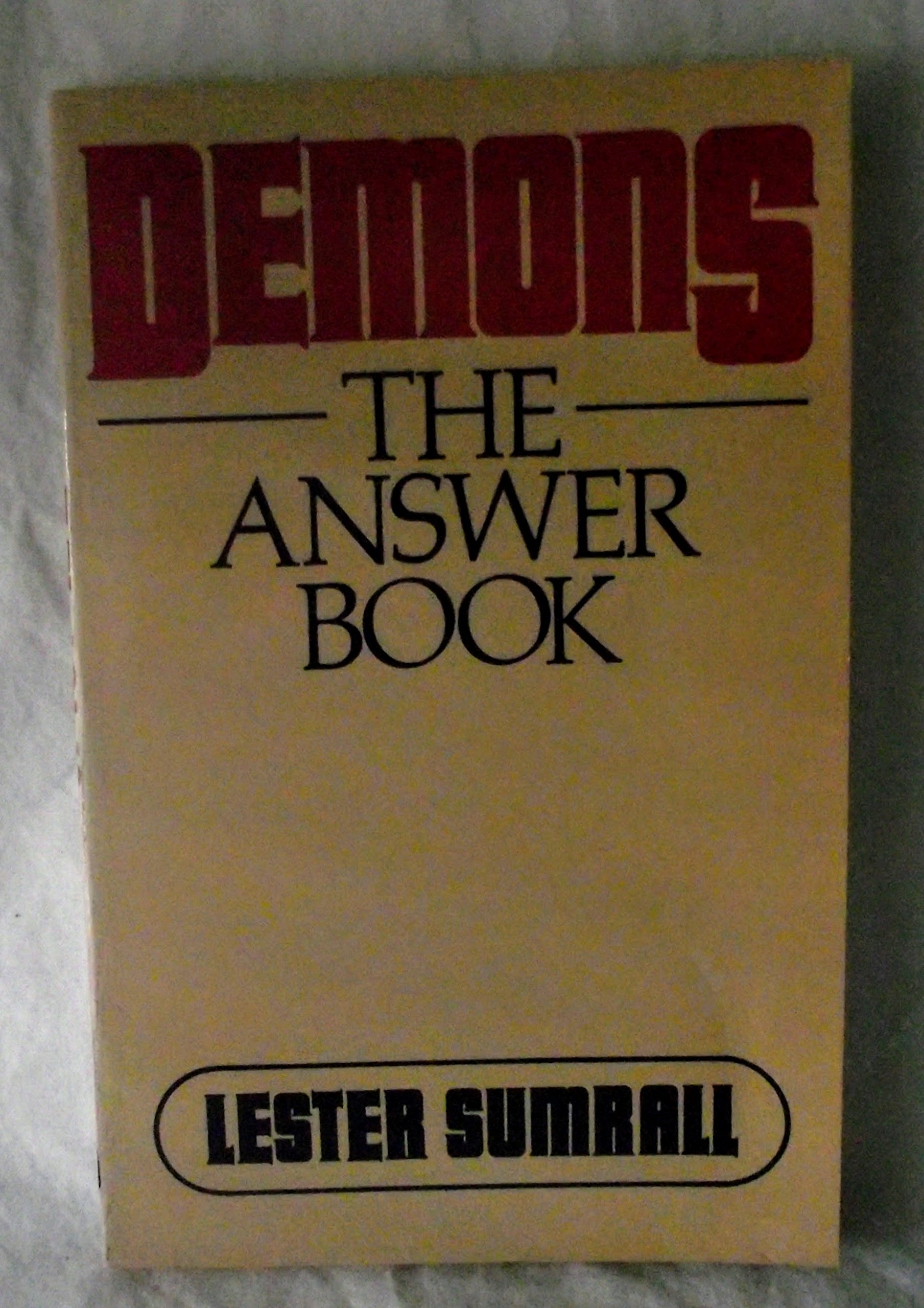 Amazon.com: Demons: The Answer Book (9780840756787): Lester Frank Sumrall:  Books