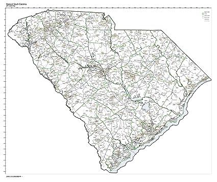 Amazon Com Zip Code Map State Of South Carolina Laminated Home