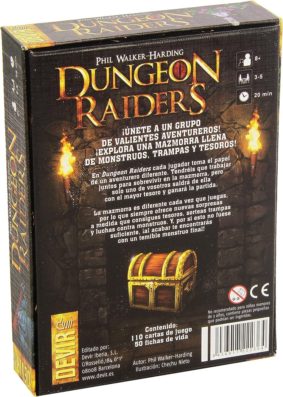 Devir - Dungeon Raiders, Juego de Mesa, Idioma Castellano (BGRAIDERS): Amazon.es: Juguetes y juegos