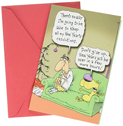 1496 keeping resolutions funny new year greeting card with 5 x 7quot