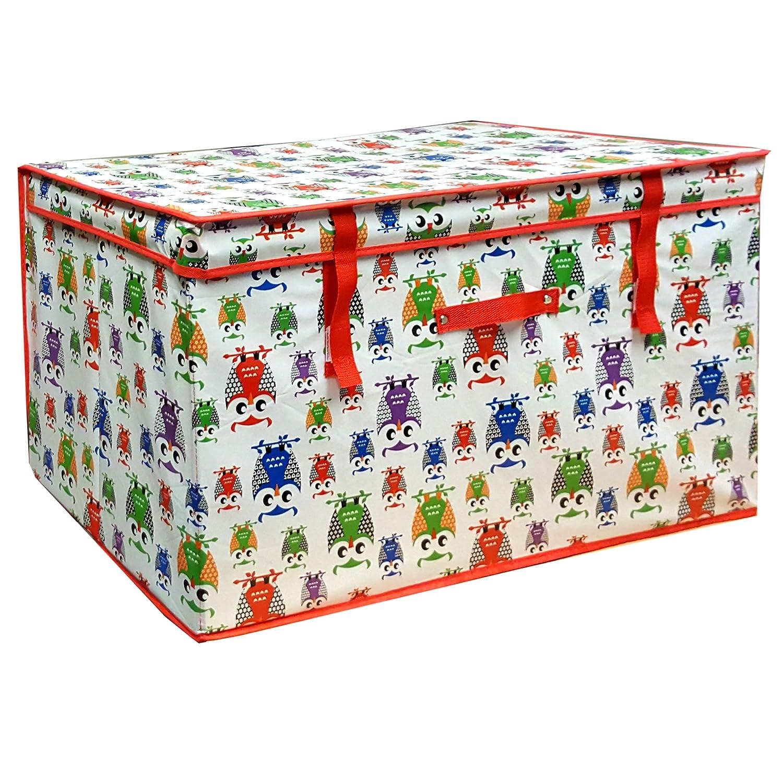 FunkyBuys® Ex Large Kids Children PRINTED ELEPHANTS ANIMAL DESIGN Storage Box (SIL-118) animaldesign