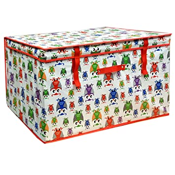 Große Aufbewahrungsboxen für Kinderzimmer Owl Design: Amazon.de ...