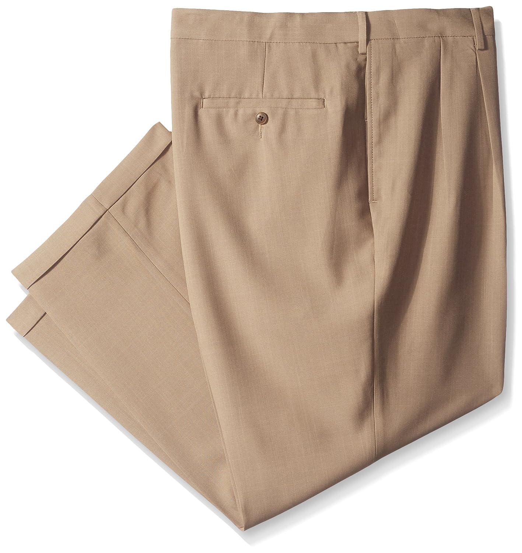 Haggar Men's Big & Tall eCLo Stria Pleat-Front Expandable Waist Dress Pant Haggar Men's Bottoms HD90219