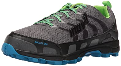 Inov8 Mens Roclite 280 Trail Runner Dark GreenGreyBlue