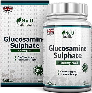 Sulfato de Glucosamina 1.500 mg 2KCl, 365 comprimidos (Suministro Para 1 Año) |
