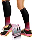 Physix Gear Sport Compression Calf Sleeves Men & Women (20-30mmhg) - Best Footless Compression Socks Shin Splints, Running, Leg Pain, Nurses & Maternity Pregnancy - Increase Blood Circulation