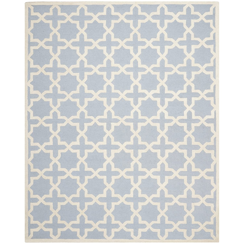Attractive Amazon.com: Safavieh Cambridge Collection CAM125A Handcrafted Moroccan  Geometric Light Blue And Ivory Premium Wool Area Rug (9u0027 X 12u0027): Kitchen U0026  Dining
