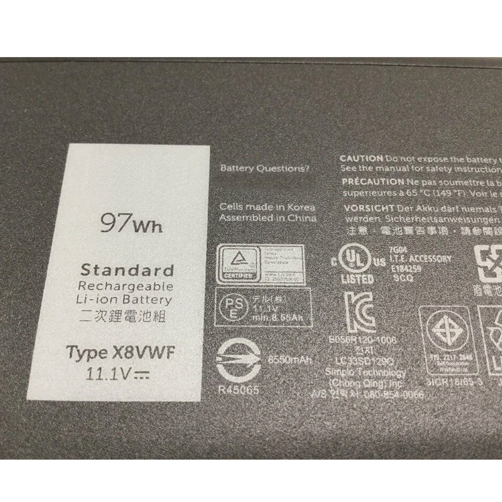 Dentsing 97Wh X8VWF Battery for Dell Latitude 14 E5404 E7404 VCWGN YGV51 453-BBBE Series by Dentsing (Image #2)