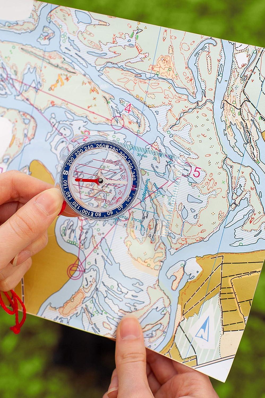 Hiking Compass Waterproof Lightweight Cub Scout Compass Boy Scout Survival Kit Boy Scout Compass Hiking Orienteering Compass Kids Navigation Map Kids Compass Backpacking Camping Wilderness