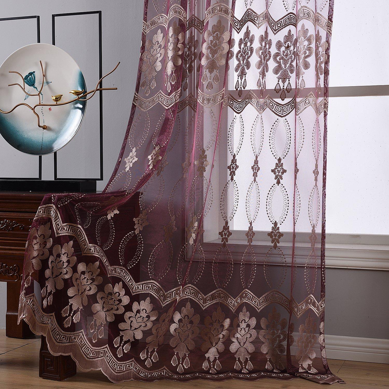 Voile für Schlafzimmer Wohnzimmer transparent BW0057 ...