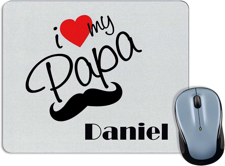 LolaPix Alfombrilla Te Quiero Papa Personalizada con Nombre/Texto. Regalos Personalizados Dia del Padre. Varios Modelos. 18X22. My Papa