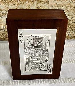 Vintage Life Inc Unique Handmade Wooden Playing Card Deck Holder Cards Decks Vintage Box