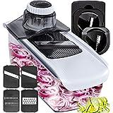 Fullstar Mandoline Slicer Spiralizer Vegetable Slicer - Cheese Slicer Food Slicer 6-in-1 Vegetable Spiralizer Potato Slicer Z