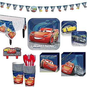Party City Kit de Fiesta de cumpleaños de Cars 3, Incluye ...
