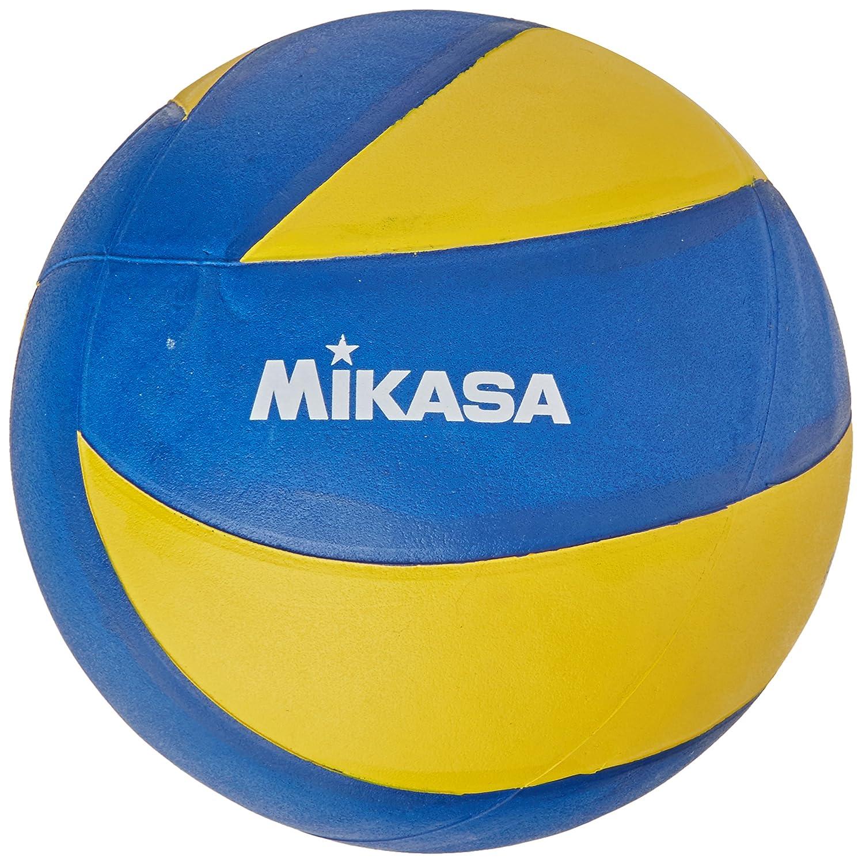 Mikasa MVA-2000 Soft - Baló n de Voleibol, Color Azul/Amarillo, Talla 5
