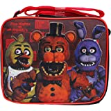 a740a3e356 Five Nights at Freddy's Black & Red Kid's Insulated School Lunch Bag