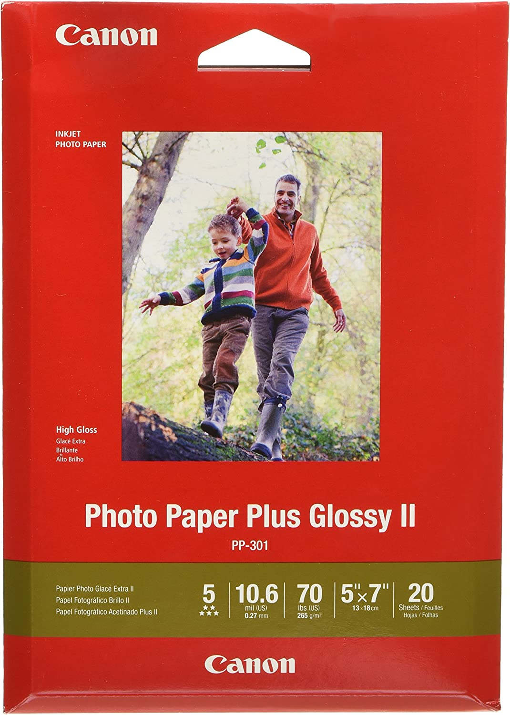 "CanonInk 1432C002 Photo Paper Plus Glossy II 5"" x 7"" 20 Sheets"