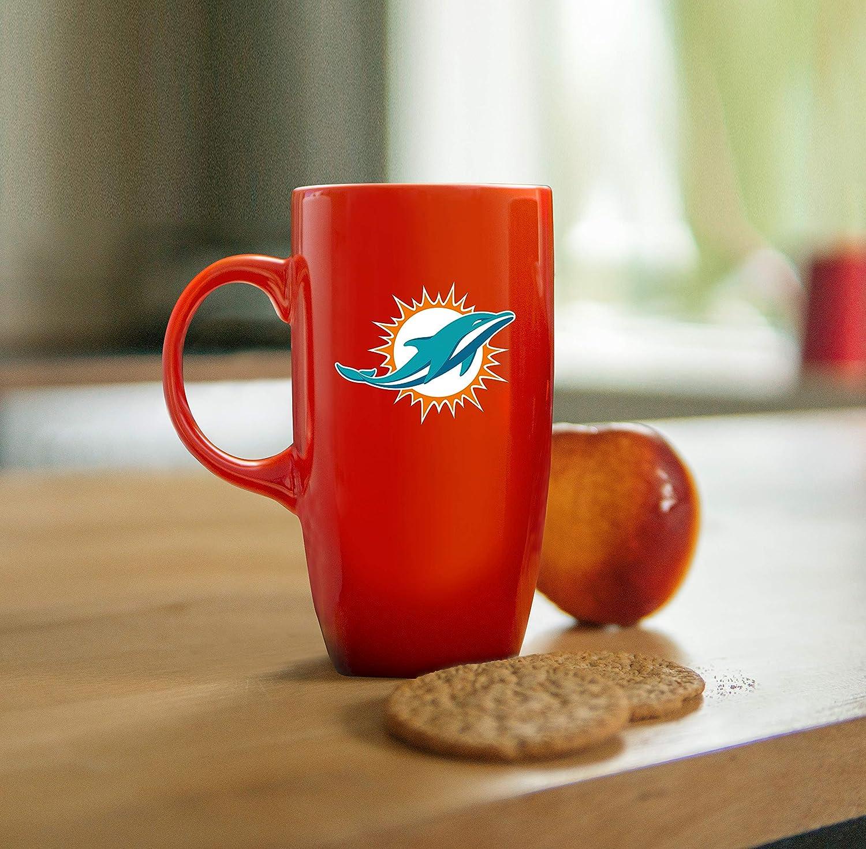 18 oz. Duck House NFL Miami Dolphins Tall Ceramic Coffee Mug