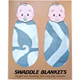 Baby Swaddle Blankets By Nurturehood: 2-Pack, Eco-Friendly Bamboo Cotton Blend Swaddles For Wrapping Newborn Infants, 47''x47'' Grey And White, Soft And Durable Multifunctional Receiving Blanket