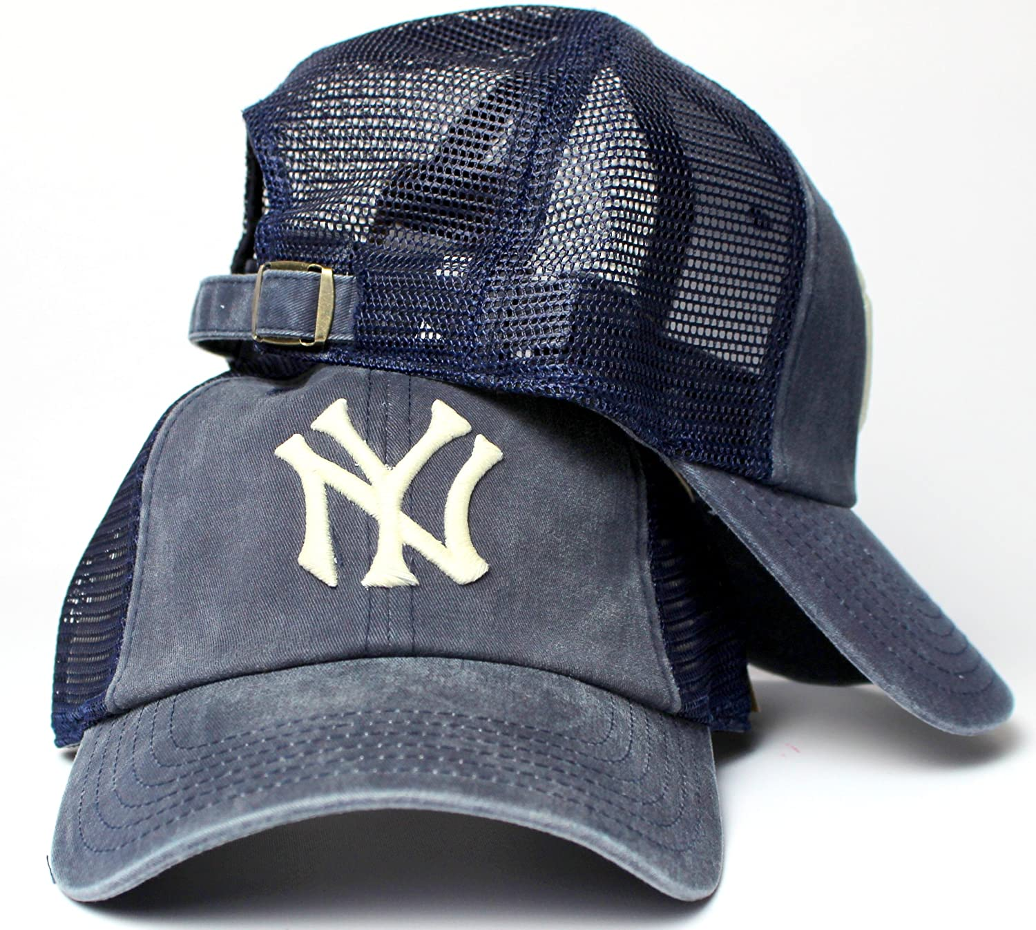 New York Yankees - Logo Raglan Bones Adjustable Baseball Cap American Needle 83031