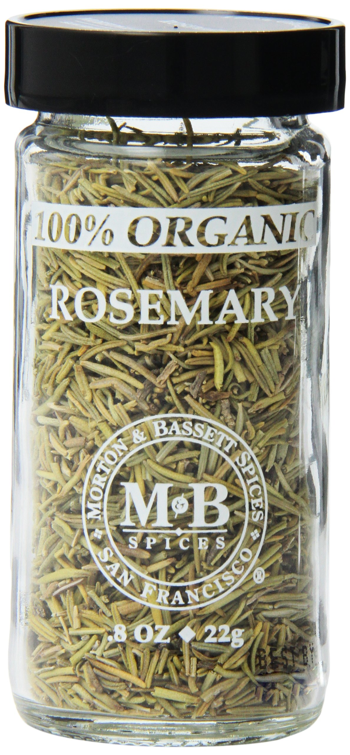Morton & Basset Spices, Organic Rosemary, 0.8 Ounce (Pack of 3)