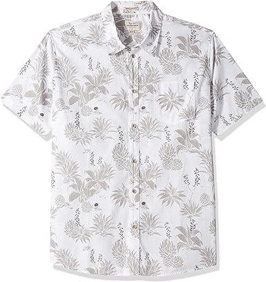 Quiksilver Hombre EQMWT03049 Agavy Camisa Floral de Manga Corta con Botones con Botones Manga Corta Camisa de Vestir - Blanco - 3X-Large: Amazon.es: Ropa y accesorios