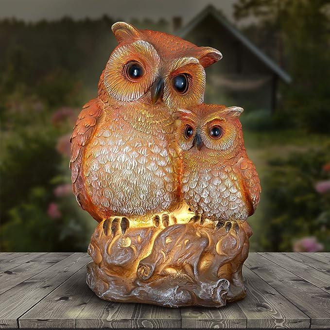BALANCING OWL FAMILY GARDEN STAKE OR HANGING MOBILE KINETIC SCULPTURE
