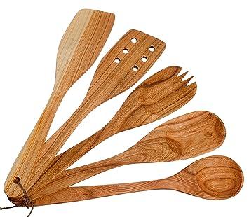 wooden cute kitchen utensils kitchen supplies utensils set of 5 made. Interior Design Ideas. Home Design Ideas