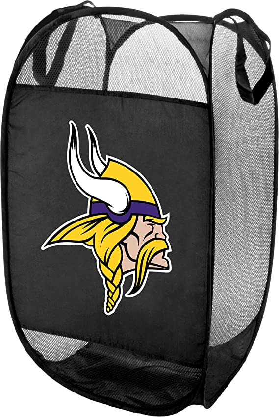 Minnesota Vikings Official Nfl Laundry Hamper Fold Up Flip Open By Forever Collectibles 050025 Sports Outdoors