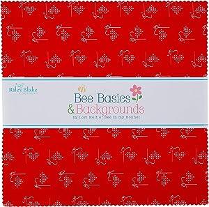Riley Blake Designs Precut Fabric Bee Basics 10 Inch Stacker, 42 Pcs