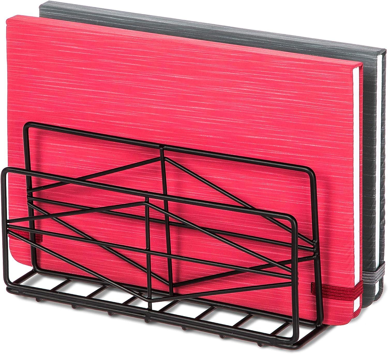 홈 존 리빙 데스크 문서 파일 트레이 주최자 | 정렬 사무용품 노트북 및 종이 | 수직 저장 장치(검정색)