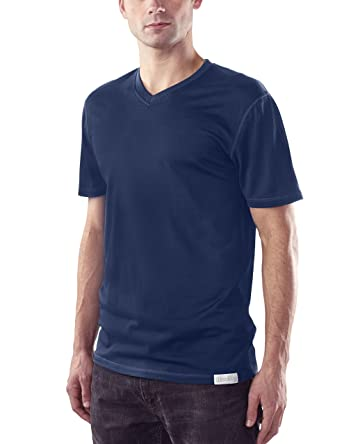Wollig Kleidung CO Herren-Merino Wolle Short Sleeve V-Neck (190 GSM ... 1a39771307