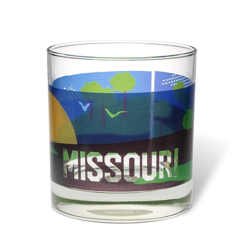 Set of 4 Multi Places /& Things 3-00584 Missouri Rocks Glasses People