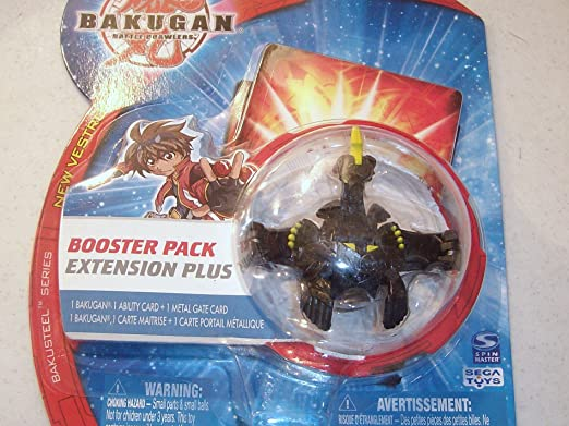 Amazon.com: Bakugan New Vestroia RARE/VHTF BakuSteel{NEW IN UNOPENED PACKAGE} Black/Silver Frost Viper Helios{PYRUS} 650G by SSB: Toys & Games