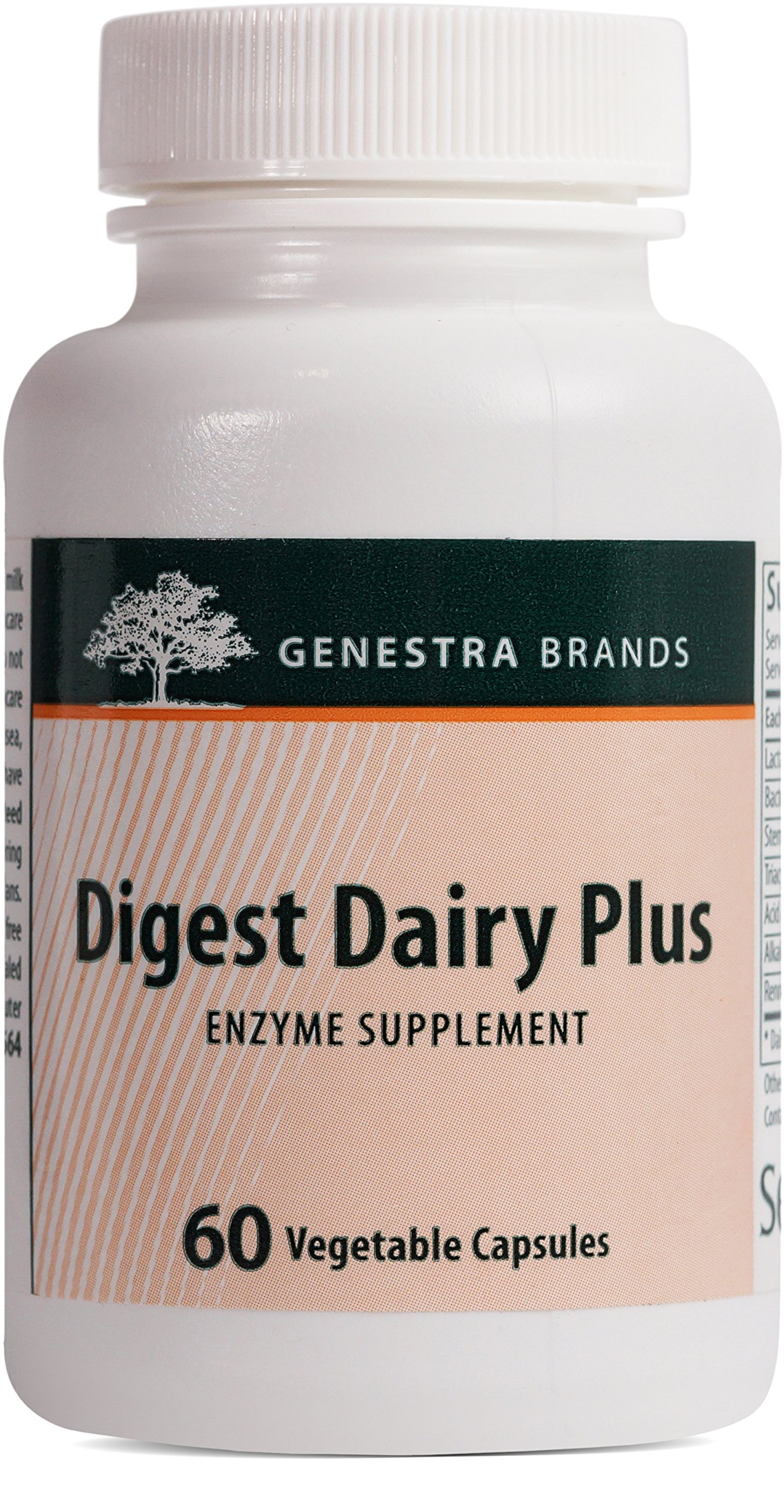 Genestra Brands - Digest Dairy Plus - Enzyme Supplement to Assist Digestion of Dairy Products* - 60 Vegetable Capsules
