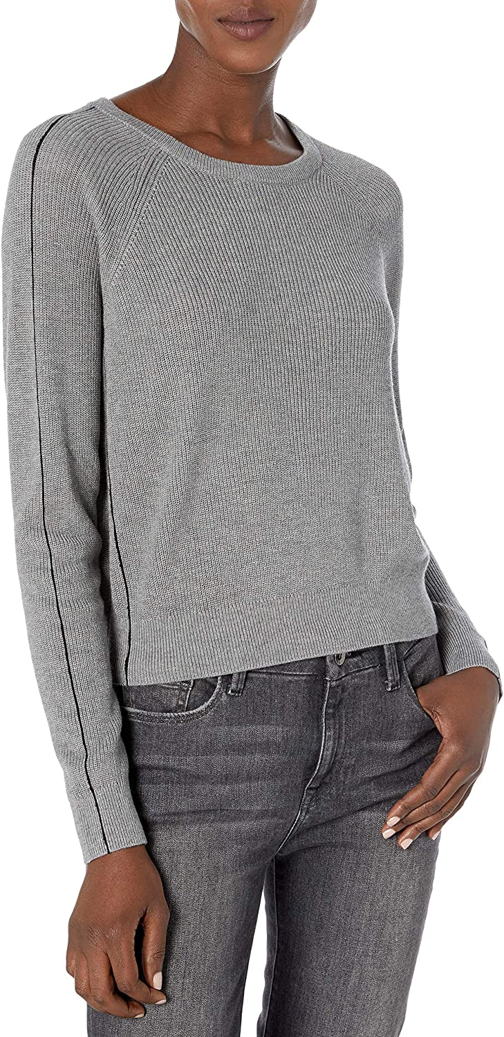 Splendid Womens Long Sleeve Cashmere Blend Pullover Popstitch Sweater
