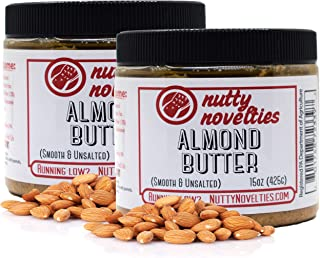 product image for Nutty Novelties Classic Almond Butter - High Protein, Sweet Almond Butter - No Added Sugar - All-Natural, Pure Almond Butter Free of Cholesterol & Preservatives - Vegan Almond Butter - 30 Ounces