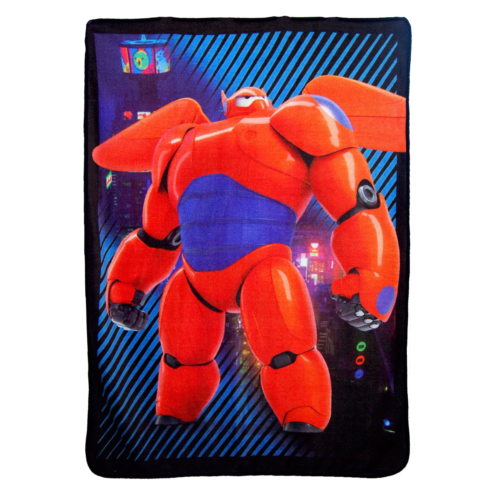 Disney's Big Hero 6, ''City Max'' Micro Raschel Throw Blanket, 46'' x 60'', Multi Color