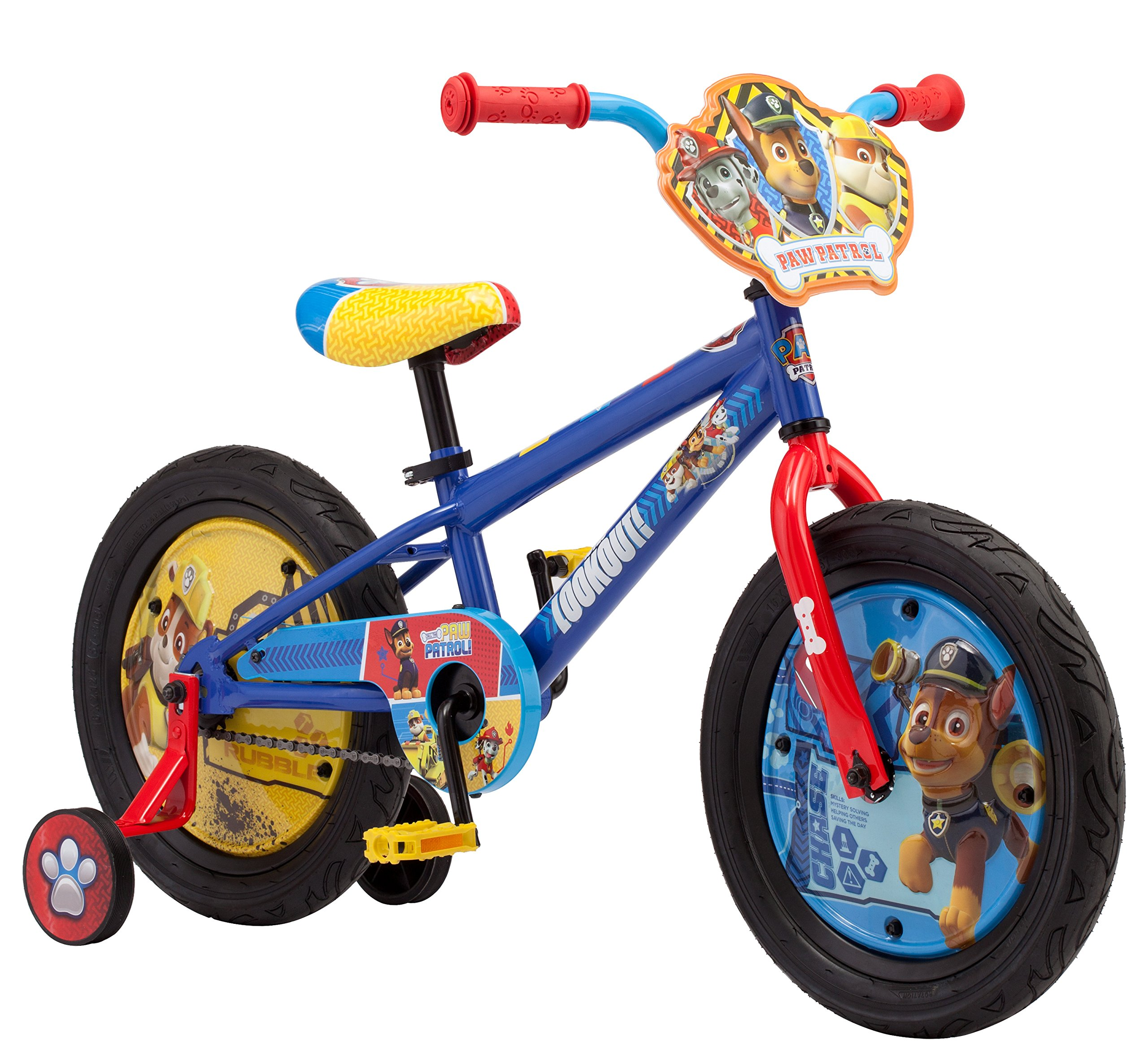 Nickelodeon Paw Patrol Boy's Bicycle With Training Wheels, 16-Inch Wheels by Nickelodeon