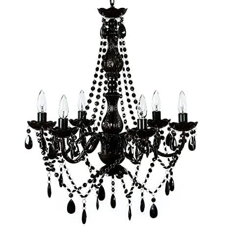 The original gypsy color 6 light large black chandelier h26 w22 the original gypsy color 6 light large black chandelier h26 w22 black metal frame with mozeypictures Image collections