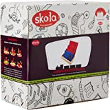 Skola Toys Sandpaper English Cursive Letters Tracing (Multicolour) - Set of 26