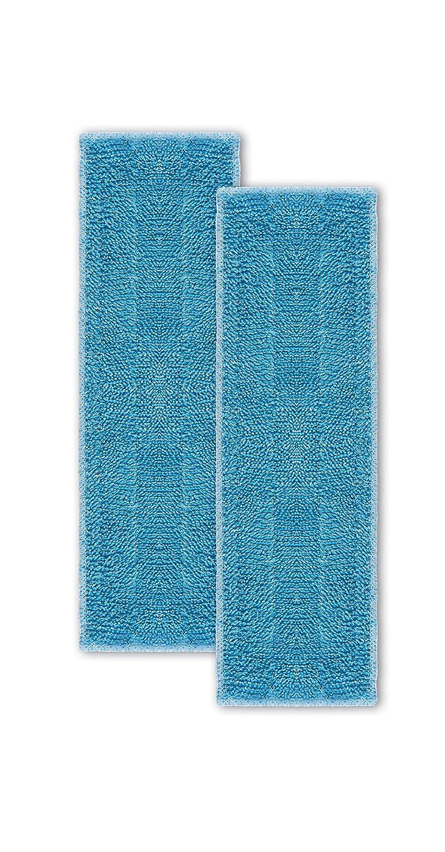 Moppy PAEU0342 Polti Set bestehend aus 2 Mikrofaserreinigungstüchern für Dampfbodenwischer, blau PAEU0343