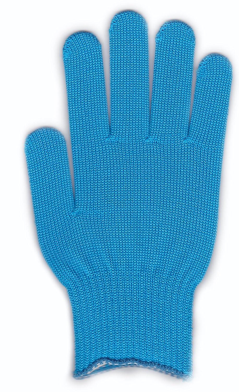 カラー手袋(10ゲージ編み) シアン 250組セット B00IDY7LQQ