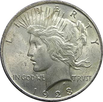1923 Dollar Silver Coin